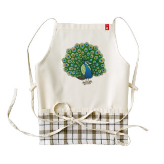 Birdorable Indian Peafowl Zazzle HEART Apron