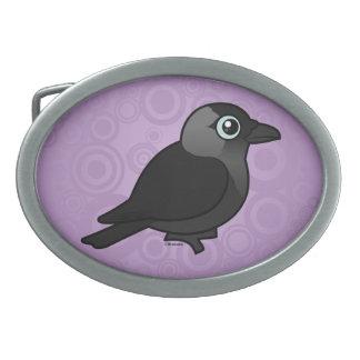 Birdorable Jackdaw Oval Belt Buckles