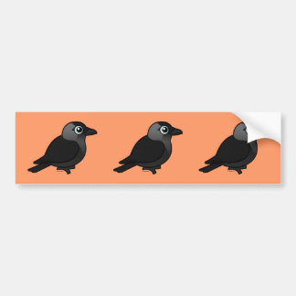Birdorable Jackdaw Bumper Sticker