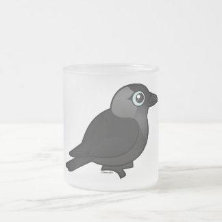 Birdorable Jackdaw Frosted Glass Coffee Mug