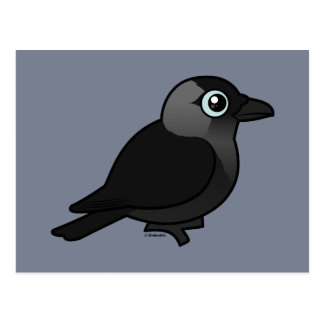 Birdorable Jackdaw Postcard