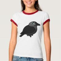 Jackdaw Ladies Ringer T-Shirt