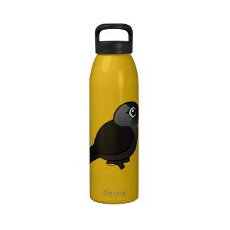 Birdorable Jackdaw Water Bottle