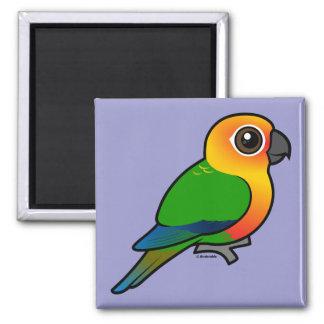 Birdorable Jandaya Parakeet 2 Inch Square Magnet