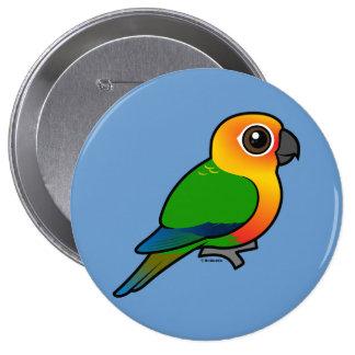 Birdorable Jandaya Parakeet Buttons