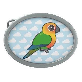 Birdorable Jandaya Parakeet Oval Belt Buckle