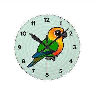 Birdorable Jandaya Parakeet Round Wallclock