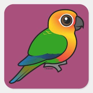 Birdorable Jandaya Parakeet Square Sticker