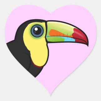 Birdorable Keel-billed Toucan Heart Sticker