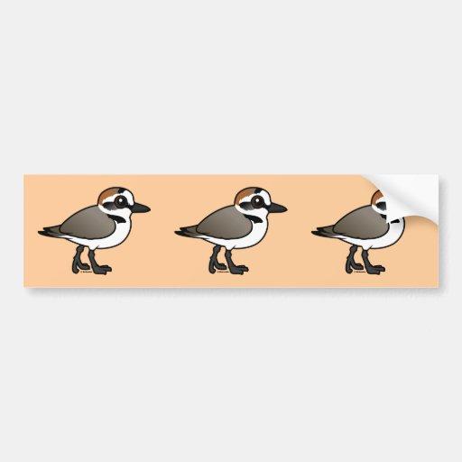 Birdorable Kentish Plover Bumper Stickers