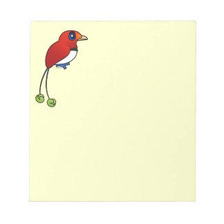 Birdorable King Bird-of-paradise Memo Notepads