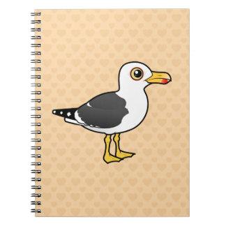 Birdorable Lesser Black-backed Gull Spiral Note Books