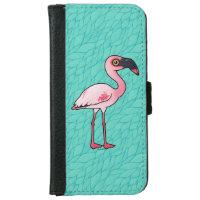 Lesser Flamingo iPhone 6 Wallet Case