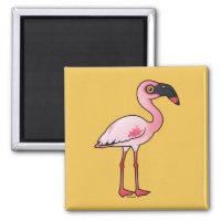 Lesser Flamingo Square Magnet