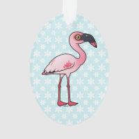 Lesser Flamingo Oval Acrylic Ornament