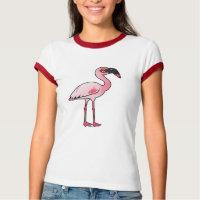 Lesser Flamingo Ladies Ringer T-Shirt