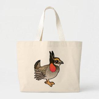 Birdorable Lesser Prairie-Chicken Canvas Bags