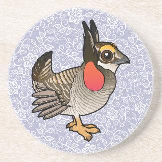 Birdorable Lesser Prairie-Chicken Drink Coaster