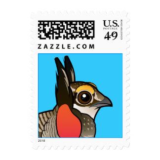 Birdorable Lesser Prairie-Chicken Postage Stamps