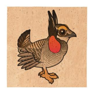 Birdorable Lesser Prairie-Chicken Coaster