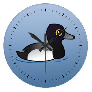 Birdorable Lesser Scaup Large Clock