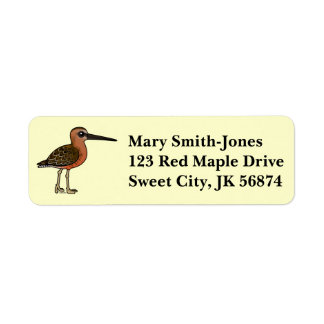 Birdorable Long-billed Dowitcher Label
