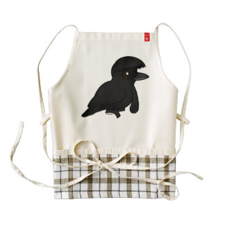 Birdorable Long-wattled Umbrellabird Zazzle HEART Apron