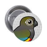 Birdorable madriguera el Parakeet Pin Redondo De 2 Pulgadas