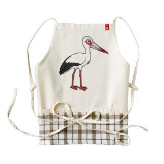 Birdorable Maguari Stork Zazzle HEART Apron