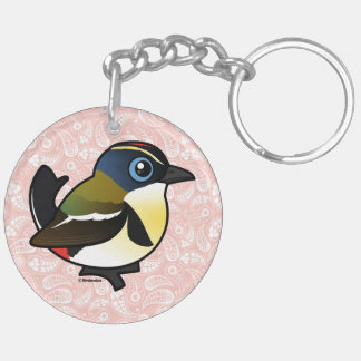 Birdorable Many-coloured Rush Tyrant Keychain