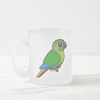 Birdorable Maroon-bellied Parakeet Frosted Glass Coffee Mug