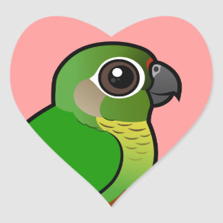 Birdorable Maroon-bellied Parakeet Heart Sticker