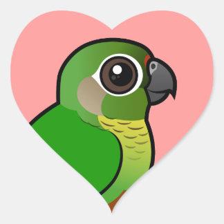 Birdorable Maroon-bellied Parakeet Heart Sticker