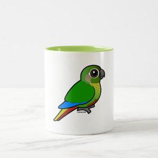 Birdorable Maroon-bellied Parakeet Two-Tone Coffee Mug