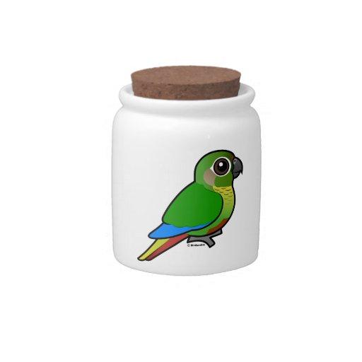 Birdorable Marrón-hinchó el Parakeet Jarra Para Caramelo