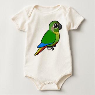 Birdorable Marrón-hinchó el Parakeet Mameluco De Bebé