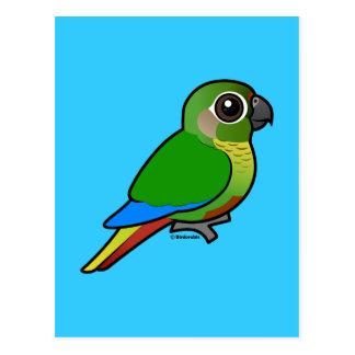 Birdorable Marrón-hinchó el Parakeet Tarjetas Postales