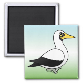 Birdorable Masked Booby 2 Inch Square Magnet