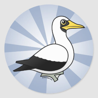 Birdorable Masked Booby Classic Round Sticker