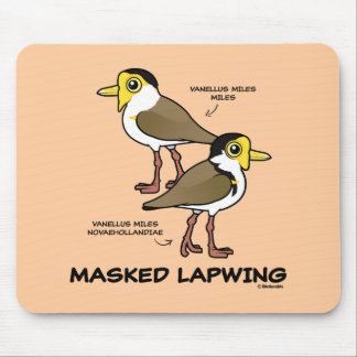 Birdorable Masked Lapwing subspecies Mouse Pad