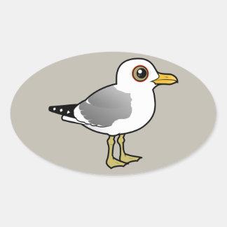 Birdorable maúlla gaviota pegatina ovalada