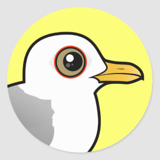 Birdorable maúlla gaviota pegatina redonda