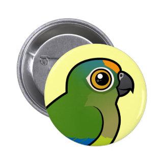 Birdorable Melocotón-afrontó el Parakeet Pin