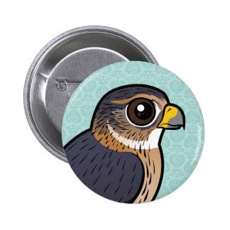 Birdorable MERLIN Pin Redondo De 2 Pulgadas