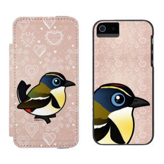 Birdorable Mucho-coloreó al tirano de la Funda Billetera Para iPhone 5 Watson