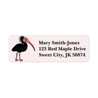 Birdorable Northern Bald Ibis Label