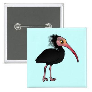 Birdorable Northern Bald Ibis Pinback Button