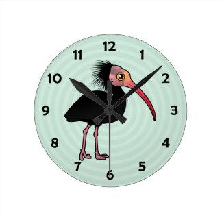 Birdorable Northern Bald Ibis Round Clock