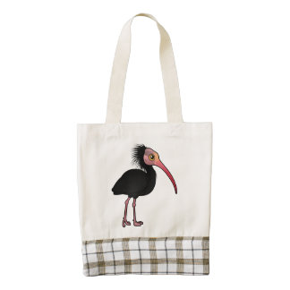 Birdorable Northern Bald Ibis Zazzle HEART Tote Bag
