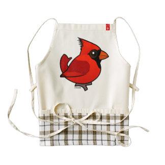 Birdorable Northern Cardinal Zazzle HEART Apron